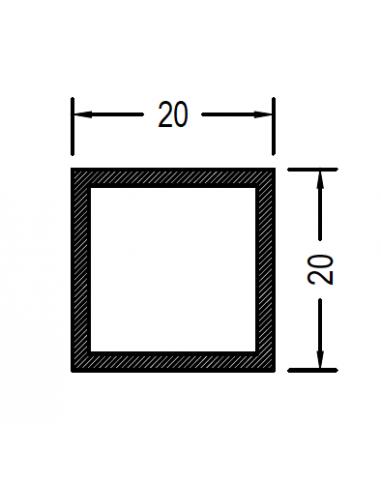 Cuadrado de 20 x 1.3mm