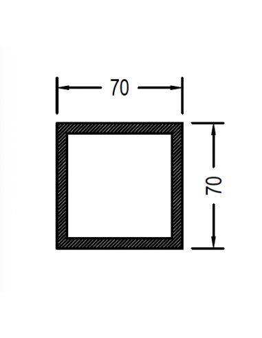Cuadrado de 70 x 1.7mm