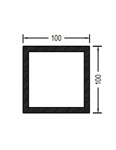 Cuadrado de 100 x 2.0mm
