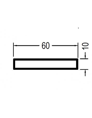 Rectangular de 60 x 10 x 1.3mm